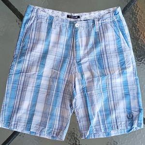 Ezekiel Blue White Checker Bermuda Shorts